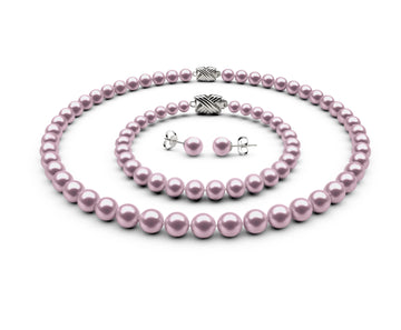 7-7.5mm AA Lavender Freshwater Complete Set