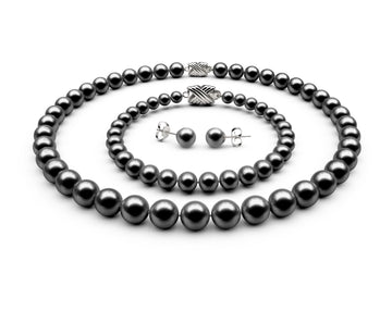8.5-9mm AAA Black Freshwater Complete Set