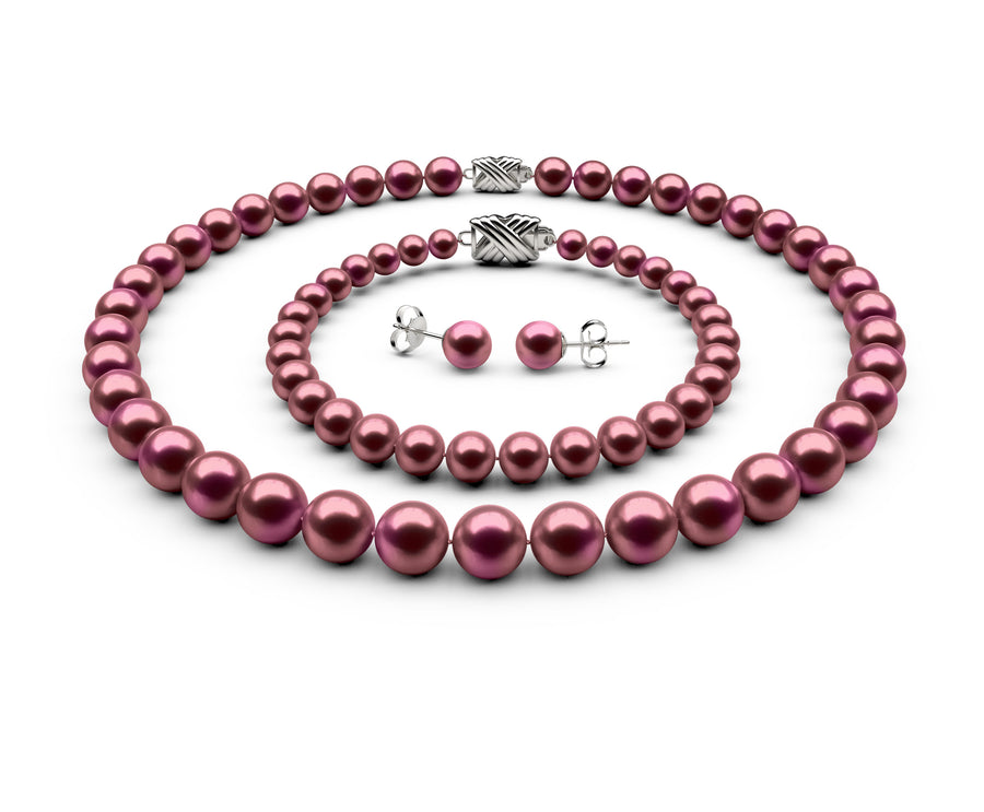 8.5-9mm AAA Cranberry Freshwater Complete Set