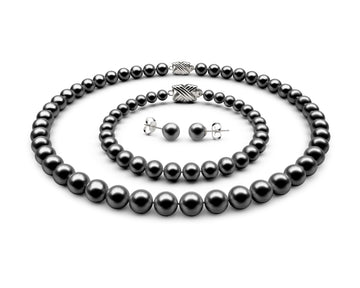 8-8.5mm AAA Black Freshwater Complete Set