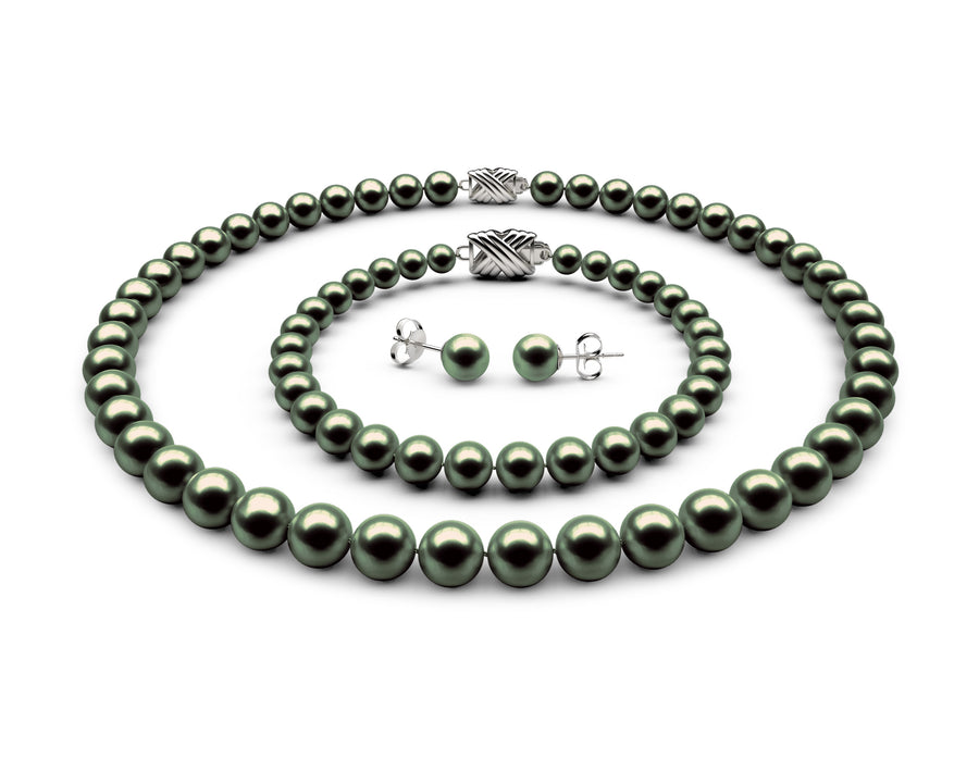 8-8.5mm AA Black-Green Freshwater Complete Set