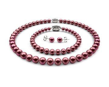 8-8.5mm AA Cranberry Freshwater Complete Set