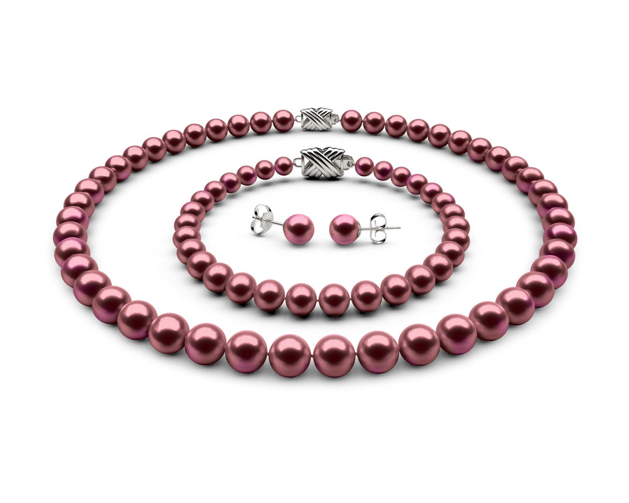 8-8.5mm AAA Cranberry Freshwater Complete Set