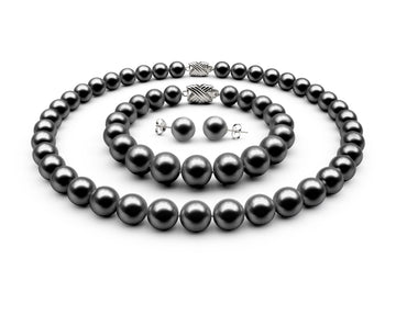 9-9.5mm AAA Black Freshwater Complete Set