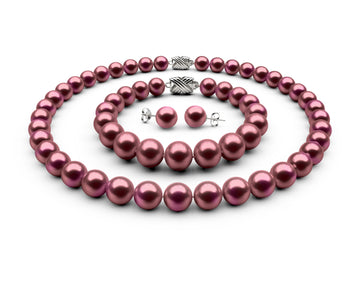 9-9.5mm AA Cranberry Freshwater Complete Set