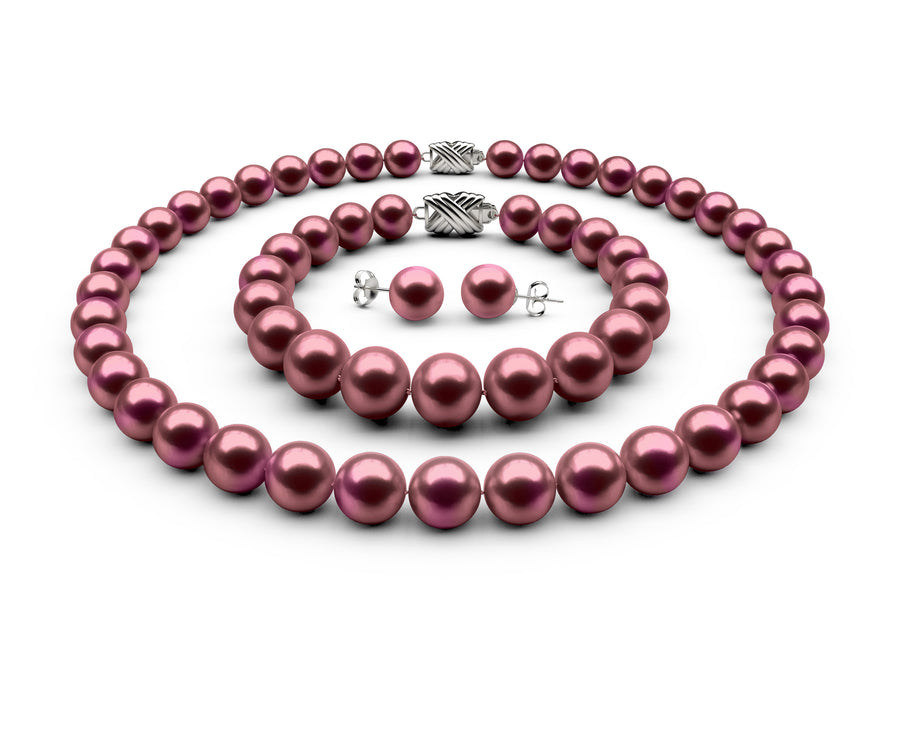 9-9.5mm AAA Cranberry Freshwater Complete Set