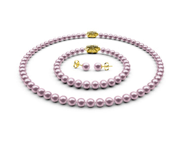 5.5-6mm AA Lavender Freshwater Complete Set
