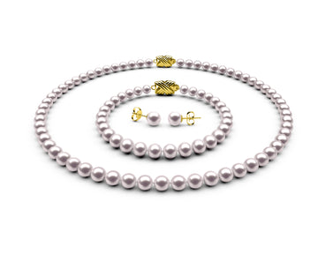 5.5-6mm AA White Freshwater Complete Set