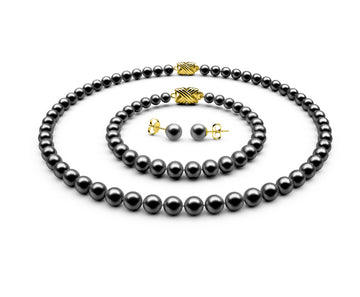 6-6.5mm AA Black Freshwater Complete Set