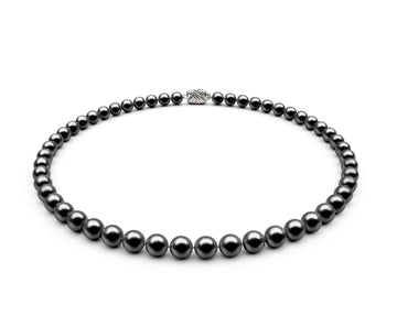 6.5-7mm AA Black Freshwater Necklace