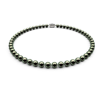6.5-7mm AAA Black-Green Freshwater Necklace