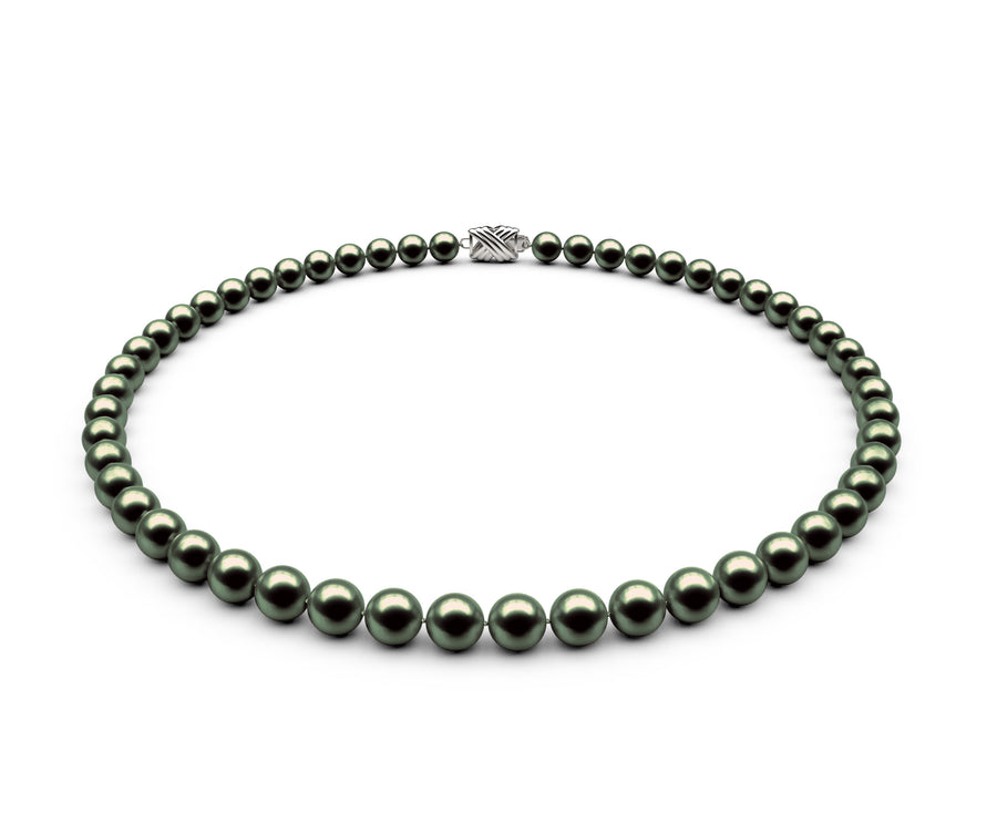 6.5-7mm AA Black-Green Freshwater Necklace