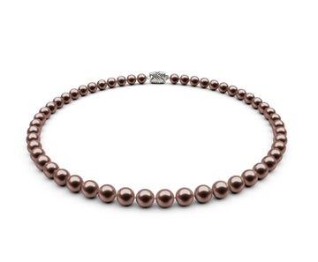 6.5-7mm AAA Chocolate Freshwater Necklace