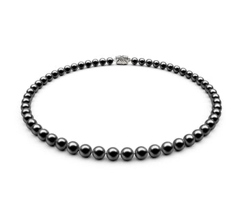 6-6.5mm AA Black Freshwater Necklace