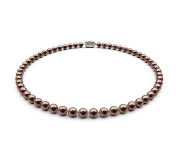 6-6.5mm AAA Chocolate Freshwater Necklace