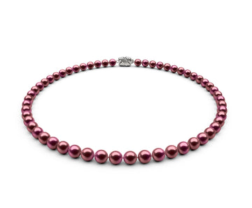 6-6.5mm AA Cranberry Freshwater Necklace