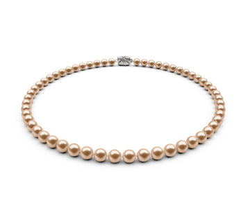 6-6.5mm AA Peach Freshwater Necklace