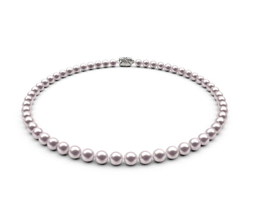 6-6.5mm AA White Freshwater Necklace