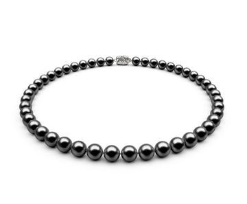 7.5-8mm AA Black Freshwater Necklace