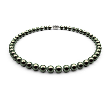 7.5-8mm AAA Black-Green Freshwater Necklace