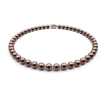 7.5-8mm AAA Chocolate Freshwater Necklace