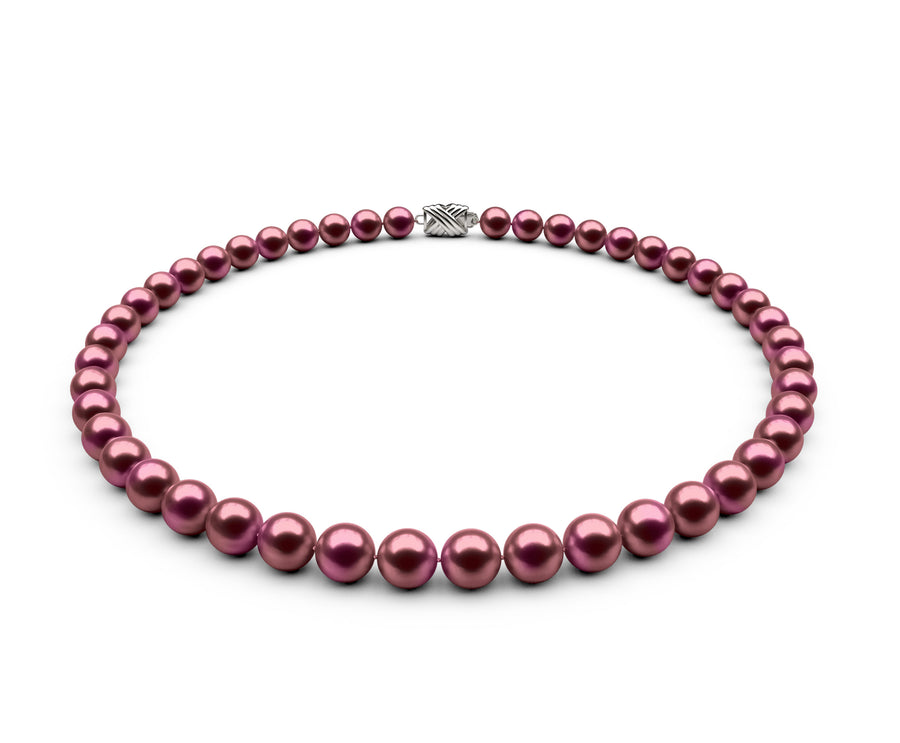 7.5-8mm AA Cranberry Freshwater Necklace