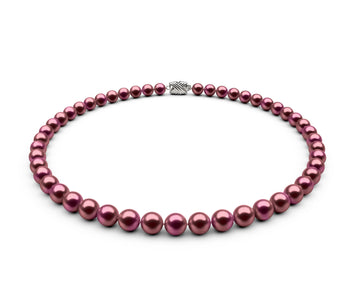 7-7.5mm AA Cranberry Freshwater Necklace