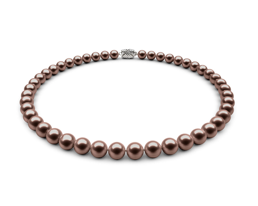 8-8.5mm AA Chocolate Freshwater Necklace