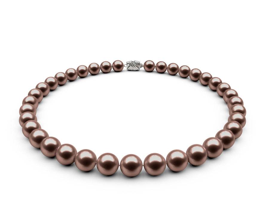 9.5-10mm AA Chocolate Freshwater Necklace
