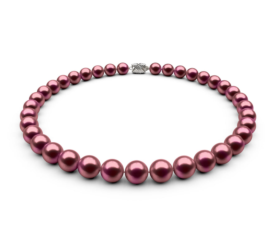 9.5-10mm AA Cranberry Freshwater Necklace