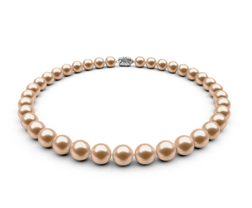 9.5-10mm AAA Peach Freshwater Necklace