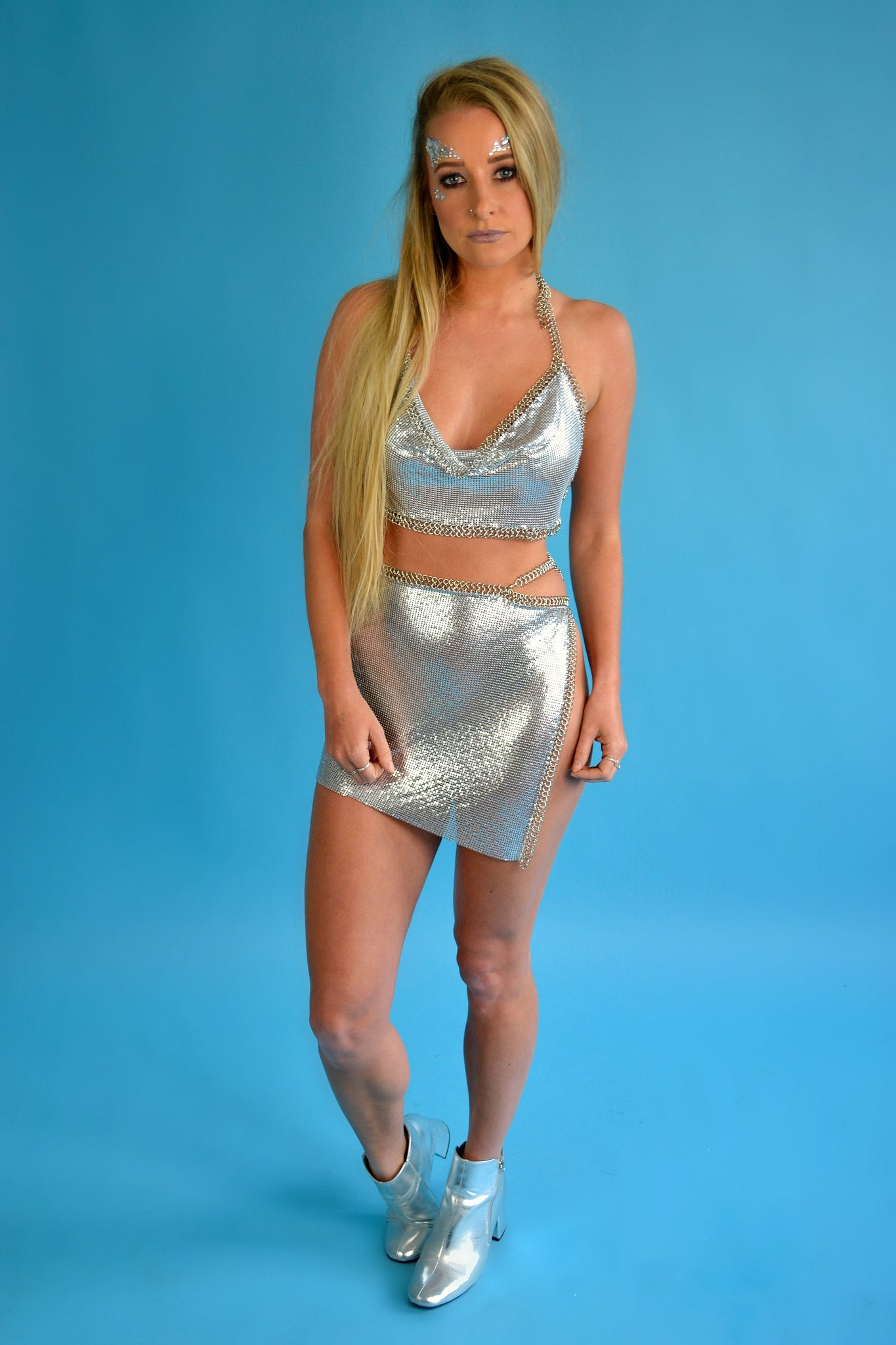 Starlight chainmail wrap skirt