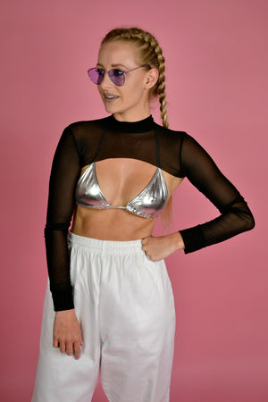 Metallic PVC triangle top