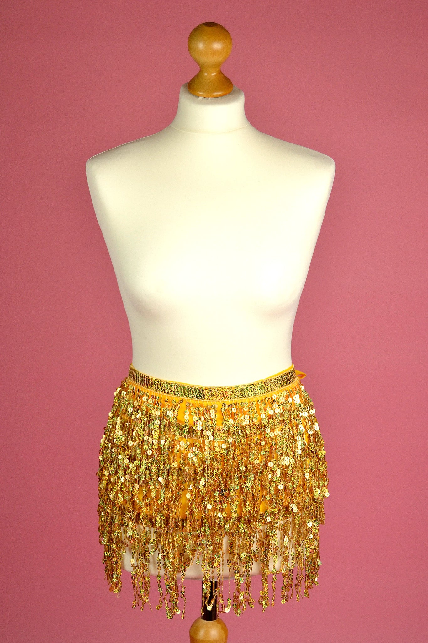 Sequin tassel belts