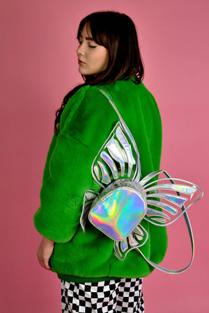 Holographic butterfly backpacks