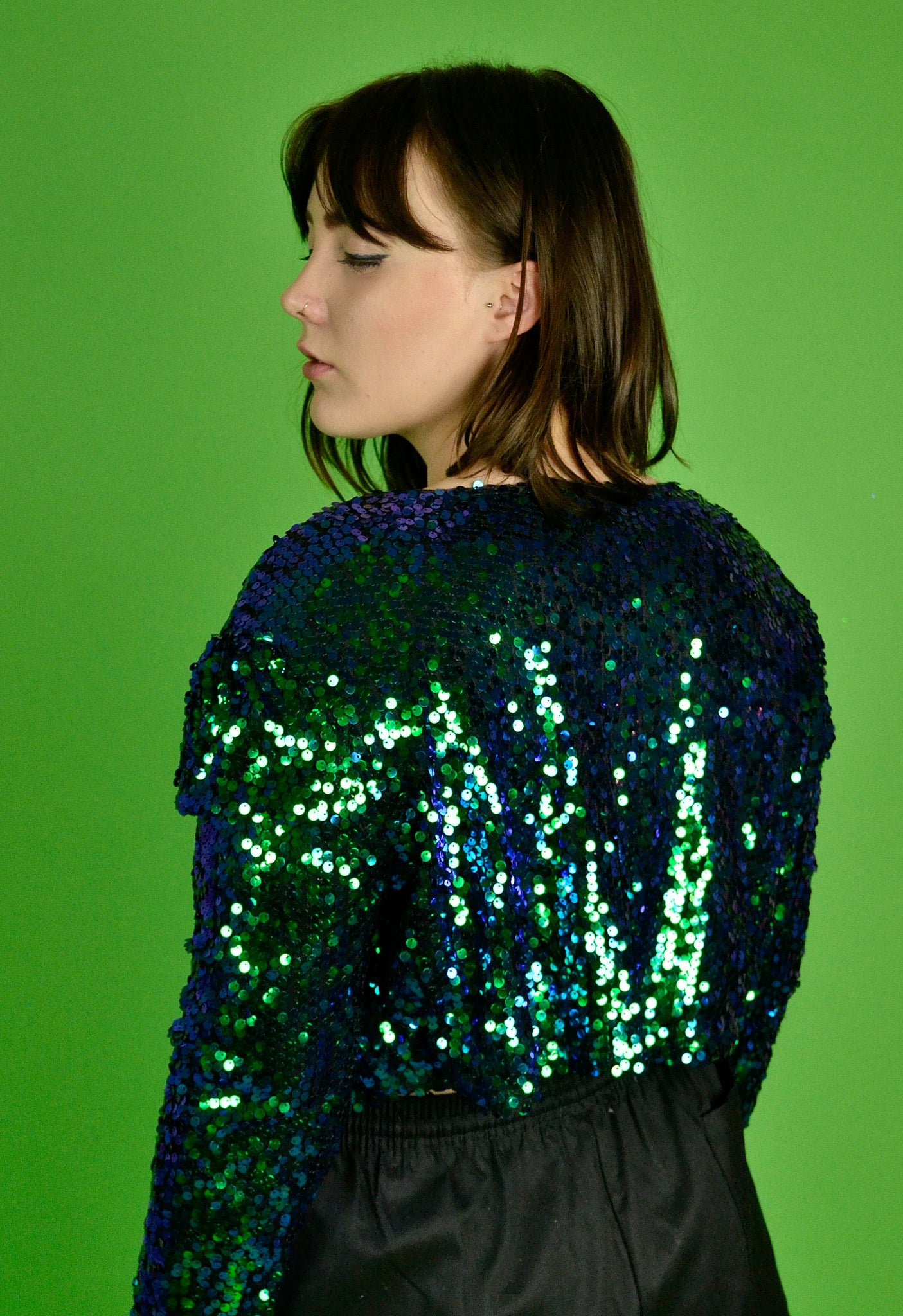 Sequin heaven cropped jacket