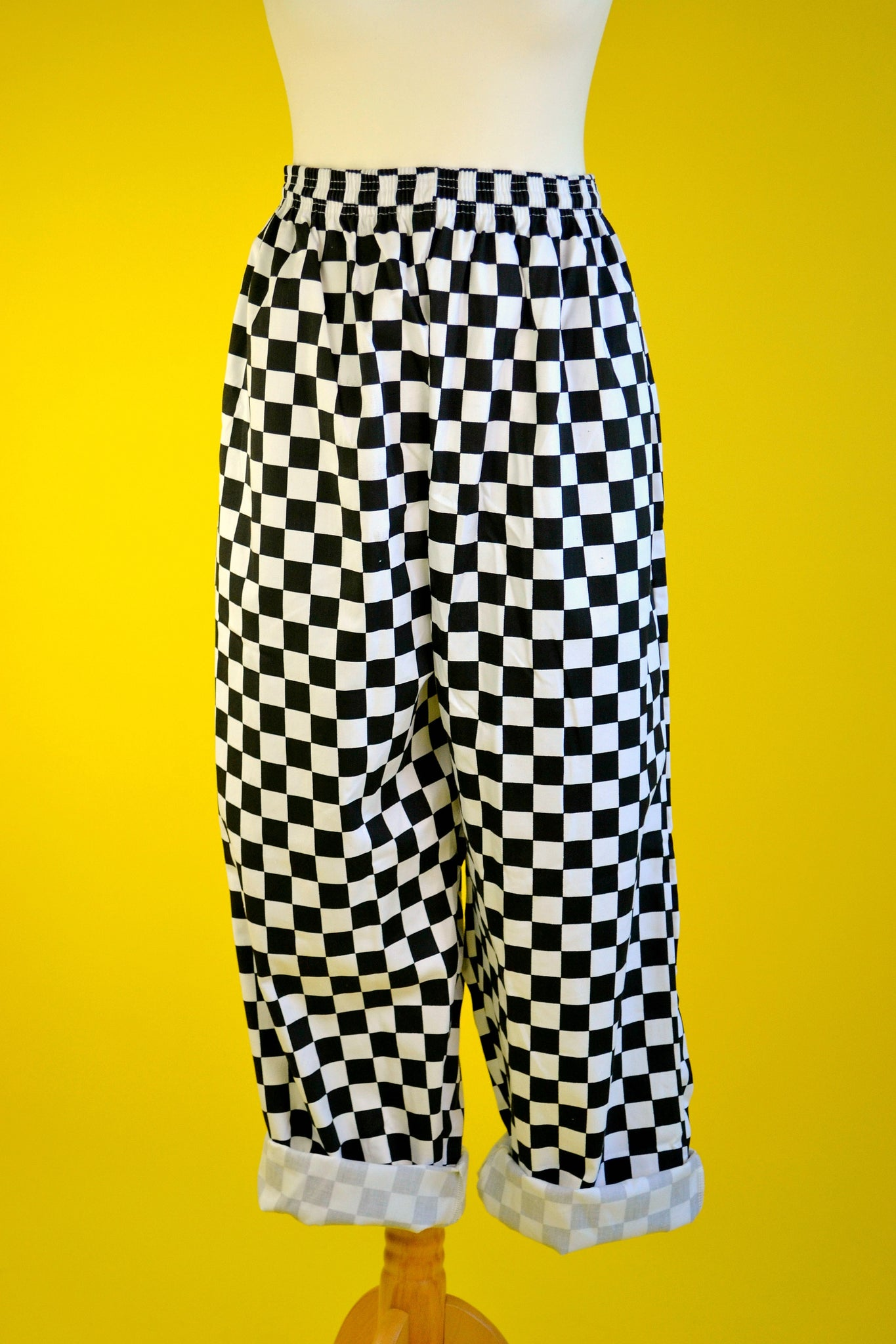 Checkerboard cargo trousers