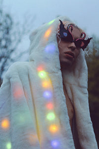Light up your life LED fur jacket