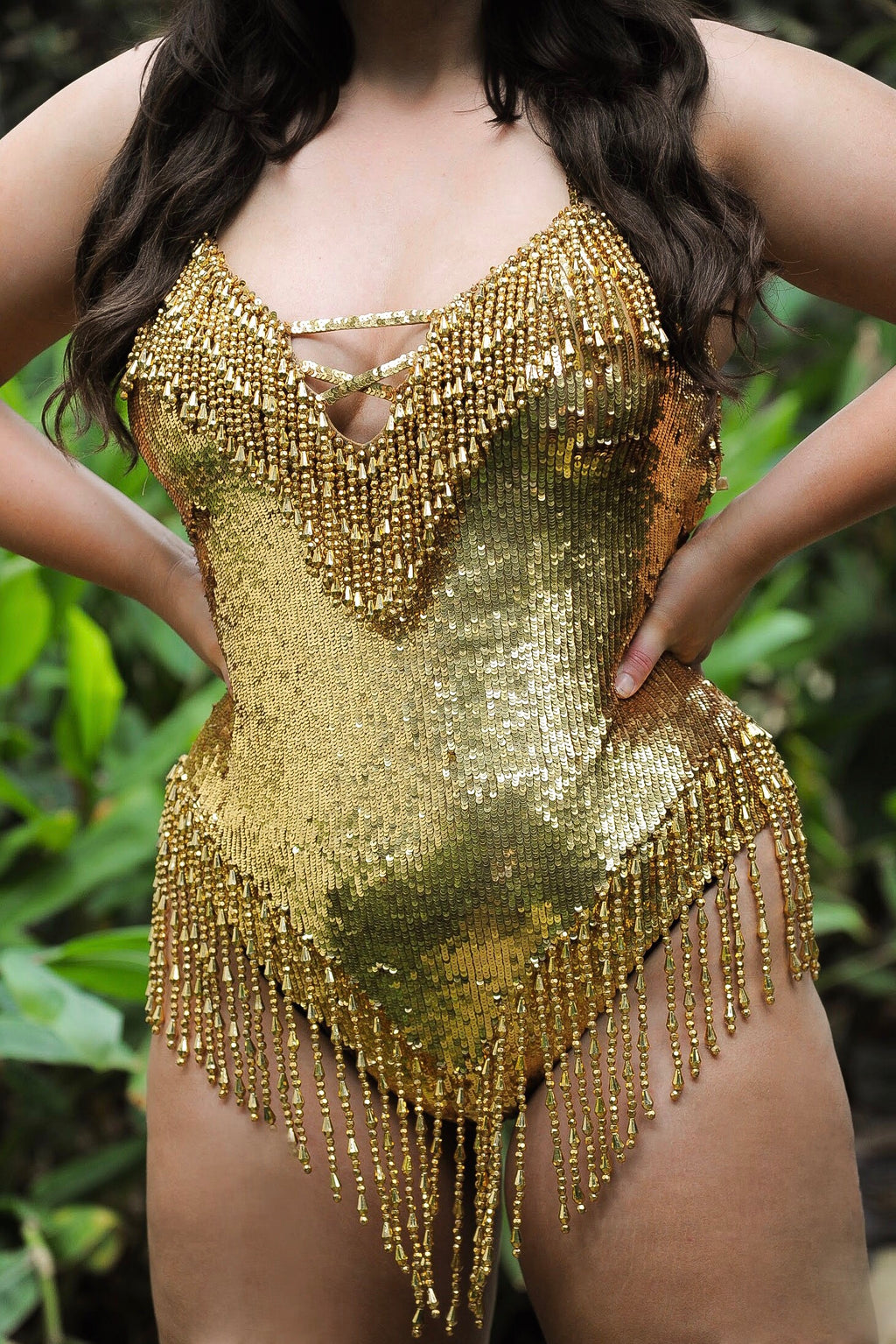 Golden girl sequin bodysuit