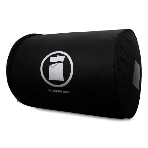 duvet storage bag black