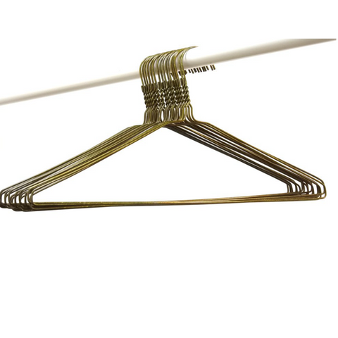 WIRE COAT HANGER 16 INCHES PLAIN - BRONZE 12.5 GAUGE