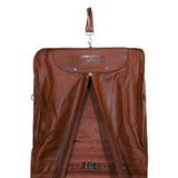 Leather Suit Carrier Bag - Tan
