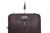 Leather Suit Carrier Bag - Brown