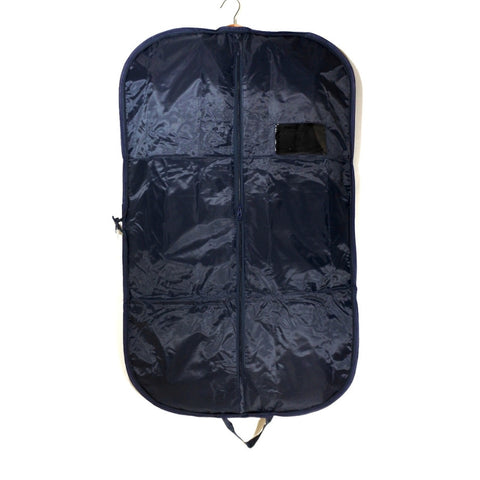 Nylon Suit Carrier With Zipper Navy 40 Inch (12 or 25 Pcs)