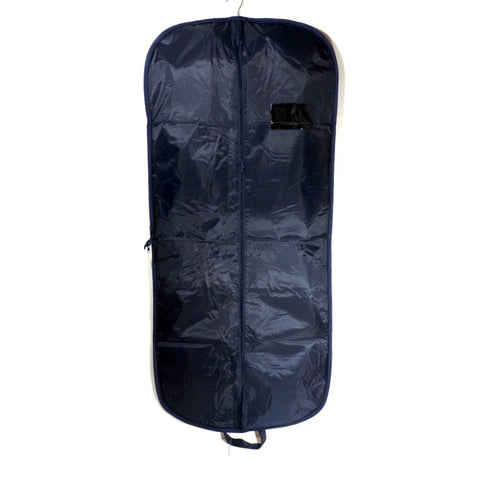 Nylon Suit Carrier With Zipper Navy 54 Inch (12 or 25 Pcs)