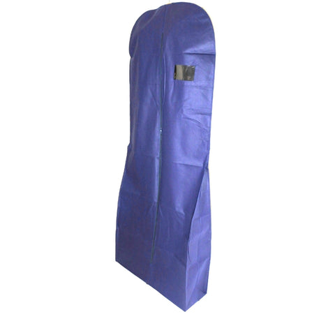 "Non Woven Dress Cover Navy 71 Inch, 9"" Gusset (12 Pcs)"