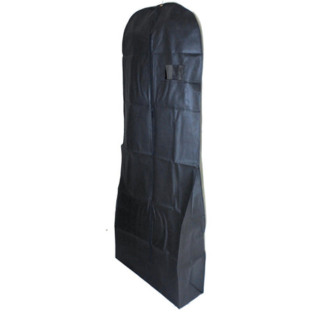 "Non Woven Dress Cover Black 71 Inch, 9"" Gusset (12 Pcs)"