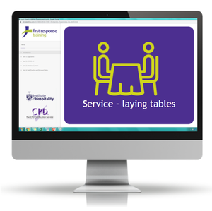 Service - laying tables