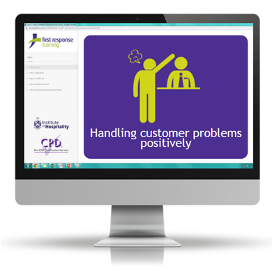 Handling customer problems positively