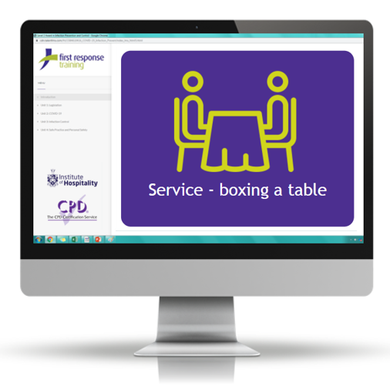 Service - boxing a table